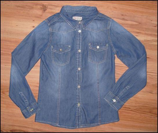 ALIVE _J.Nowa koszula jeansowa r.152