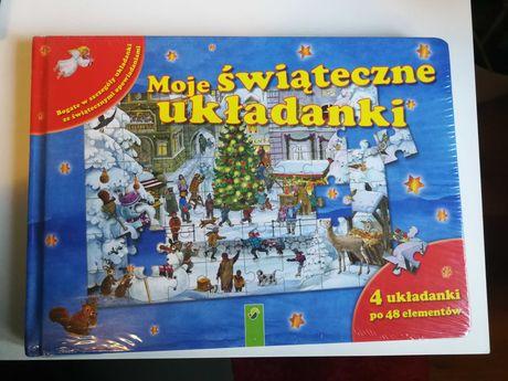 Puzzle świąteczne 4 x 48 elementów