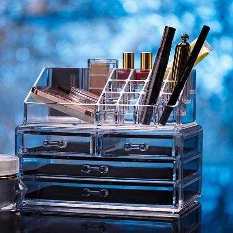 Акриловый органайзер для косметики настольный Cosmetic Organizer Makeu