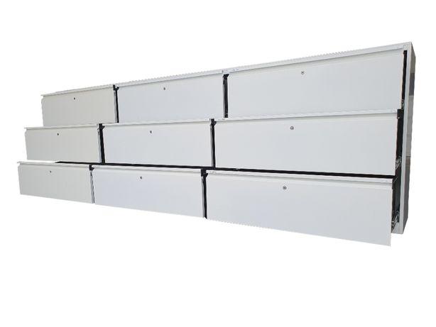 Szafy 300 cm z 9 szufladami stół warsztatowy zabudowa metalowa