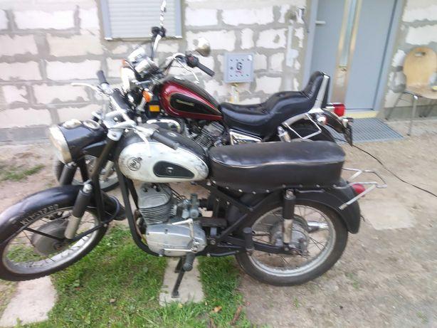 Dwa klasyki w jednej cenie Kawasaki vulkan vn750 i SHL M11 w2a Wiatr