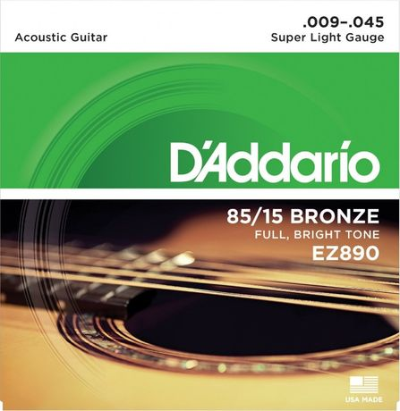 Struny do gitary akustycznej EZ980 D'ADDARIO 9-45 + 3 PIÓRKA !!!