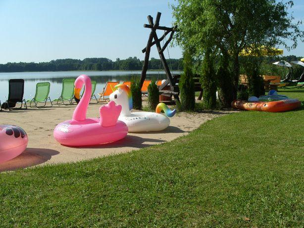 MAZURY APARTAMENT nad jeziorem -własna plaża ,sprzęt pływający