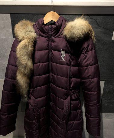 Куртка пуховик (парка) USPA оригинал + натуральный мех енота