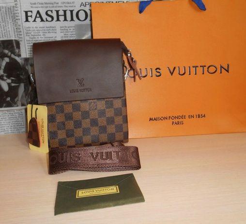 Skorzana męska torba Listonoszka Louis Vuitton, skóra, Francja LV 8022