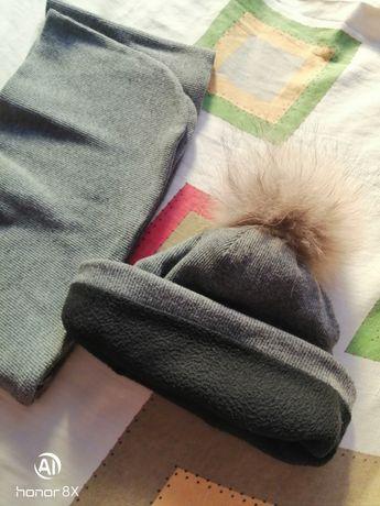 Шапка зимняя и шарф