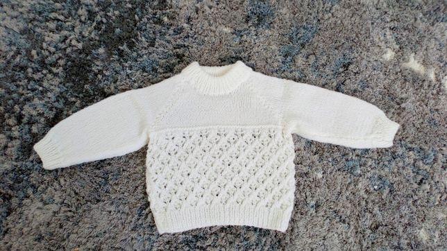 Sweterek dzianinowy 62 0-3 miesięcy
