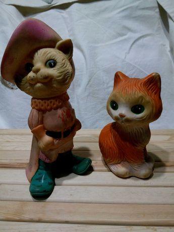 игрушки резиновые советских времен кот в сапогах кошечка