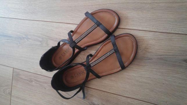 Nowe sandałki z cekinami Lasocki r.39