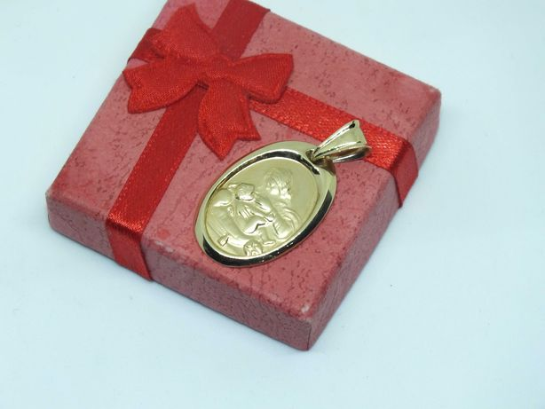**Złoty medalik Matka Boska-Lombard Stówka**