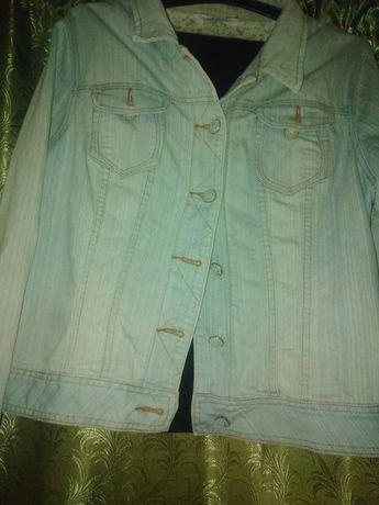 Джинсовый пиджак 56 размера!