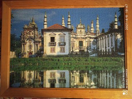 Obrazy wykonane z puzzli w ramach drewnianych 80x60