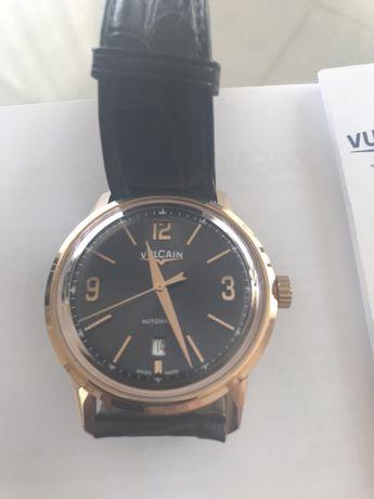 Мужские швейцарские золотые часы