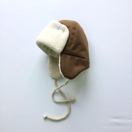 Зимняя шапка на утеплителе 56 р новая