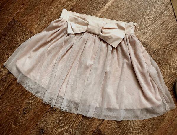 Пышная нарядная юбка с фатином на 10 лет