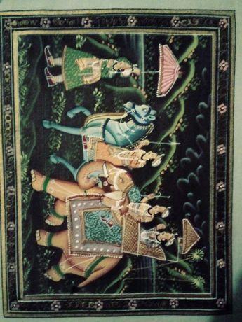 Obraz orientalny. Wymiary: 22x17 cm