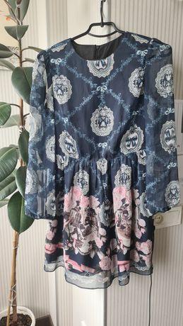Красивое шёлковое платье S