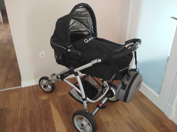 Wózek Quinny głęboki i spacerówka zestaw dużo dodatków