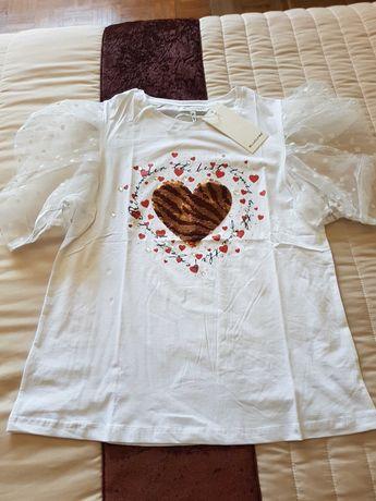 T-shirt senhora com aplicações