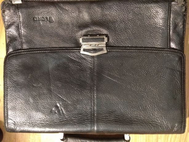 Портфель кожаный с кодовым замком!