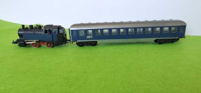 Comboio locomotiva mehano carruagem 1/87 ho