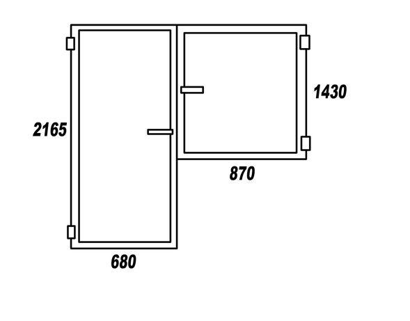 Балконный блок (дверь+окно) б/у