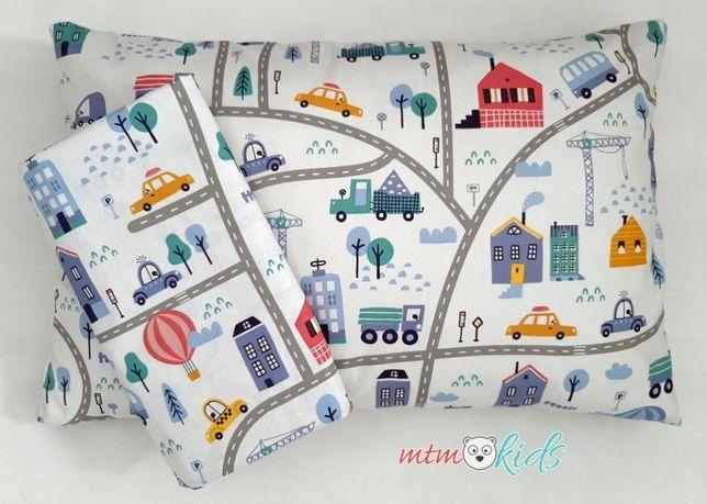 Pościel do łóżeczka auta miasto droga 100x135 dla chłopca 90x120