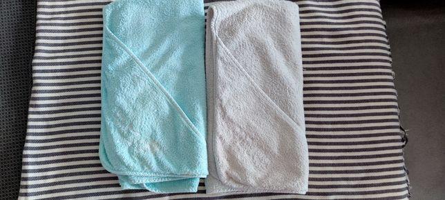 2 toalhas de banho com capuz para bebé Vertbaudet