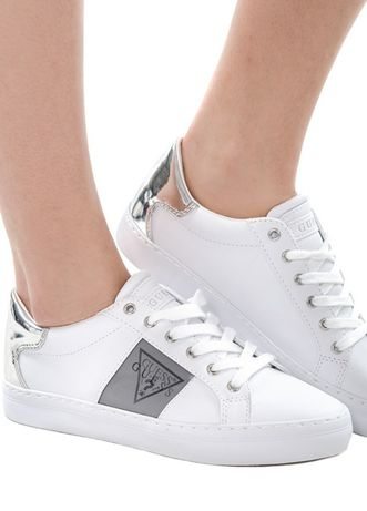 Sneakersy Guess oryginalne biało srebrne