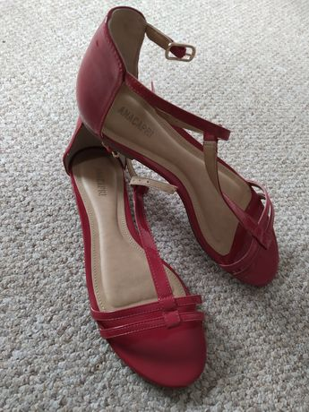 Sandały,czerwone roz 39 wysyłka gratis