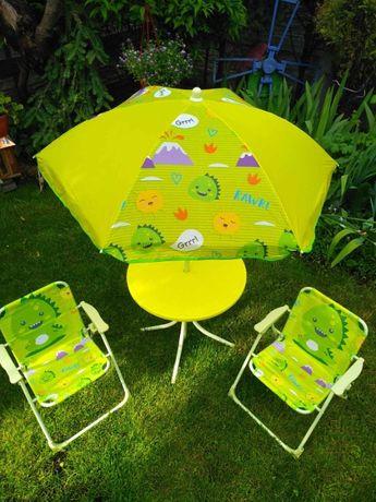 Стіл ДИТЯЧИЙ з парасолею і двома стільцями