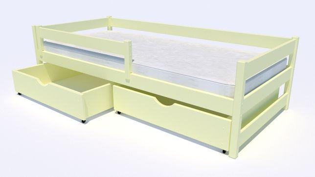 Drewniane łóżko dziecięce jednoosobowe Mini Premium HIT 2020