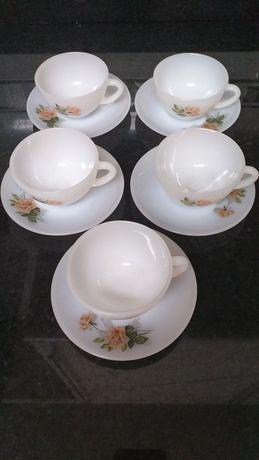 Conjunto chavenas hexagonais chá NOVO / Conjunto de chavenas cafe