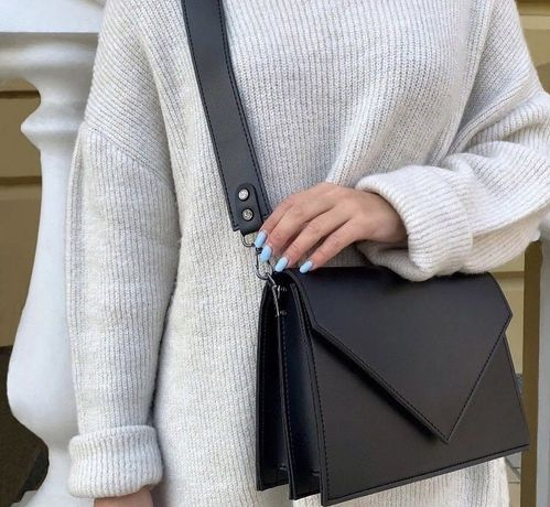 Черная сумка эко-кожа