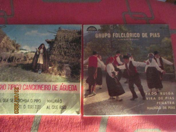 2 discos de vinil 45rpm de ranchos folcloricos