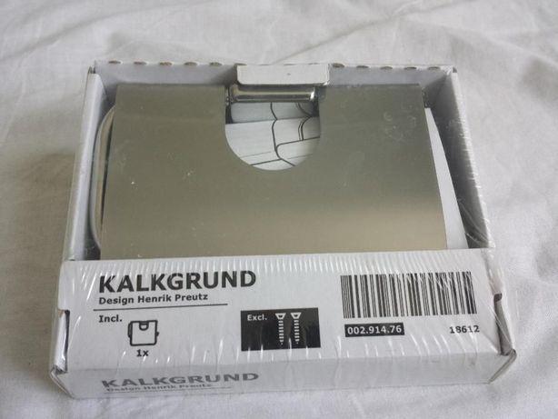 Uchwyt na papier toaletowy, chrom KALKGRUND IKEA - nowy, zapakowany.