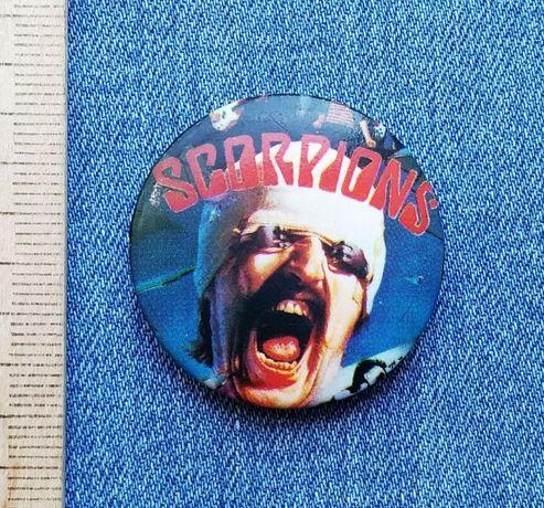 Редчайший значок популярной рок-группы Scorpions, 80-е прошлого века