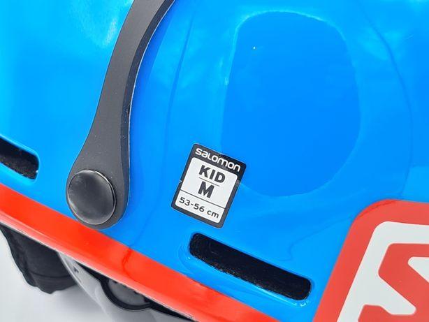 Salomon Grom Kid JR S-M 53-56 Blue kask narciarski snowboard niebieski