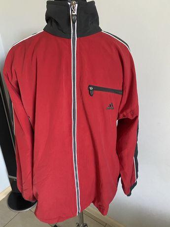 Adidas Grafitowo- czerwona kurtka męska sportowa r. L/Xl vintage