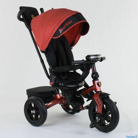 Детский трехколесный велосипед BEST TRIKE 9500 B (накачка, муз фара)