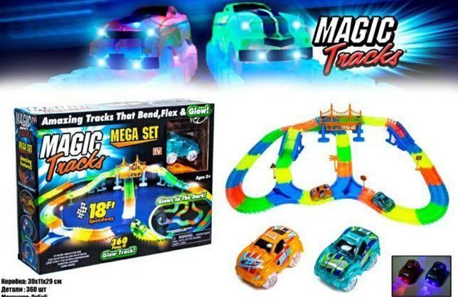 Автотрек железная дорога,гонки,Светящиеся треки,magic track