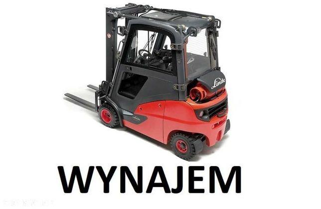 Wynajem wózka wózek widłowy gazowy Linde H14T H16T kabina