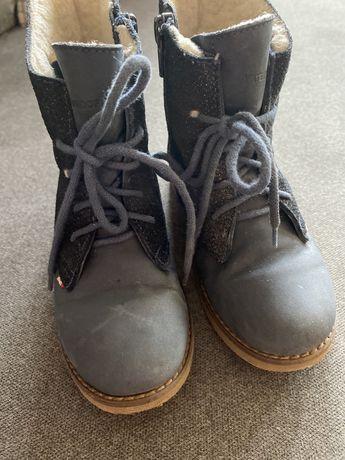Buty skórzane zimowe dziewczęce Emel