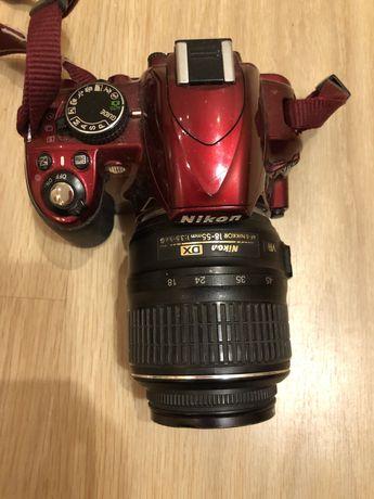 Nikon d3100 фотоаппарат (красный)