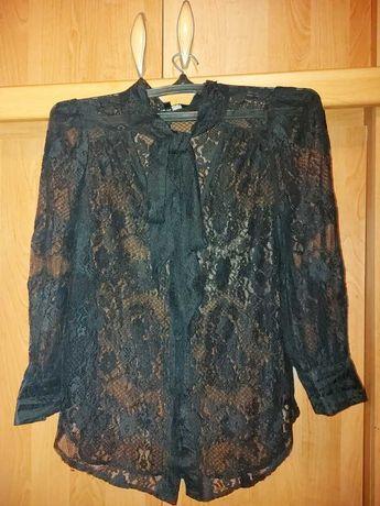 Гипюровая рубашка блузка