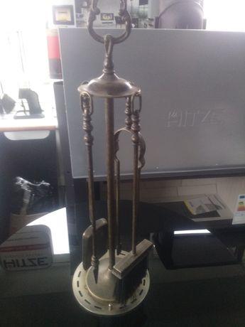 Przybornik kominkowy mosiądz 4 elementy 54 cm