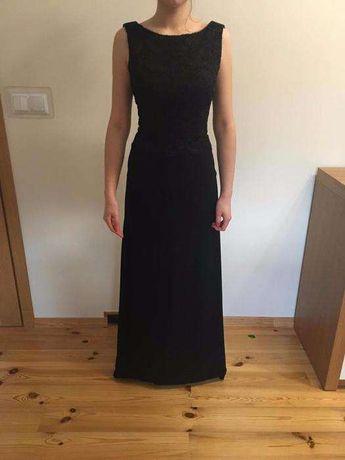 Długa, czarna sukienka, rozmiar XS/S