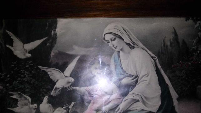 Obraz antyk Matka Boska z Jezuskiem