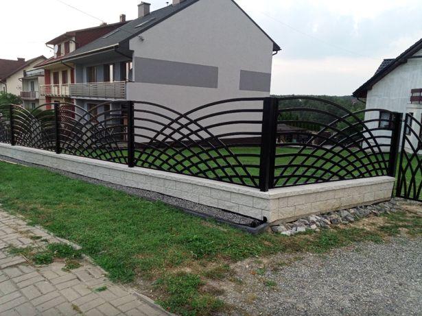Ogrodzenia, Balustrady kute nowoczesne palisadowe panelowe