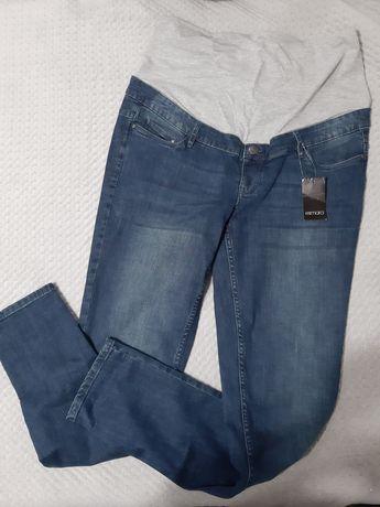 NOWE Spodnie ciążowe jeansowe rozmiar 46